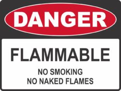 Flammable - No Smoking/naked flames